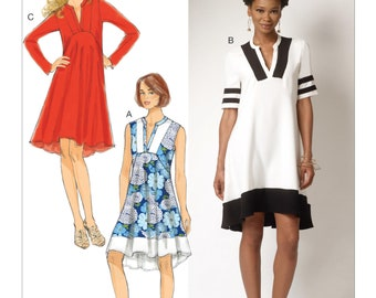 Butterick B6209 Misses' Slit-Neck Dresses