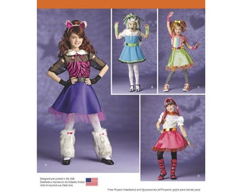 Simplicity 1350 Child's and Girls' Off Beat Hip Vampire, a trendy Monster, a Sassy Wolf or a Quirky Doll