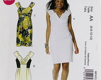 McCall's 6318 - Sleeveless Dress pattern for woven fabrics in 3 Styles
