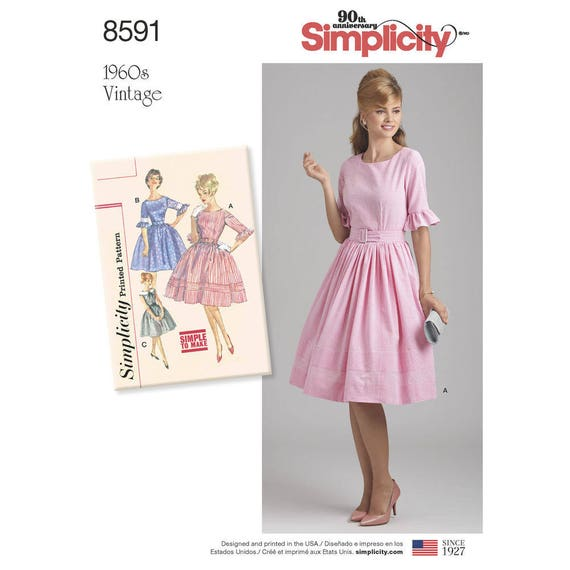 Simplicity 8167 Misses Sew Chic Dress, P5 /(12-14-16-18-20/) Xmas