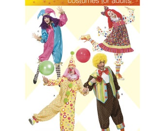 Simplicity 2849 Adult Clown Costumes