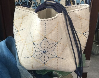 "KOMEBUKURO - Traditional Japanese Rice Bag - Sashiko kit (8"" bag)"