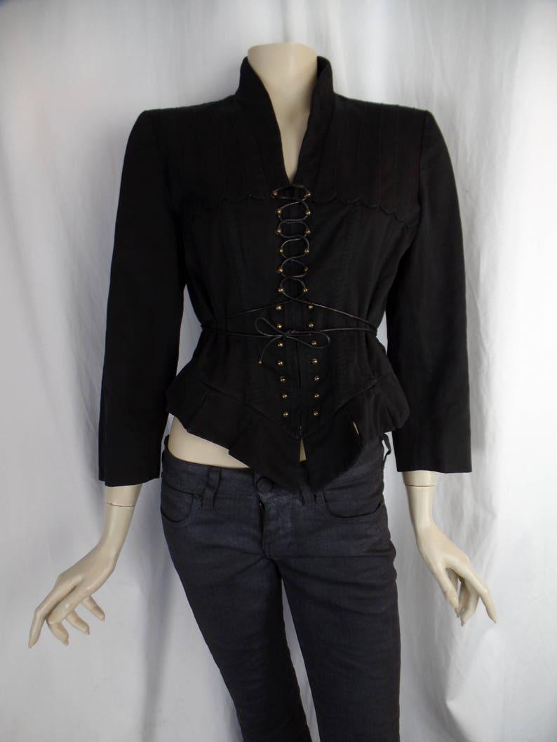 6b6dce460 vintage ALEXANDER MCQUEEN corset lace up black