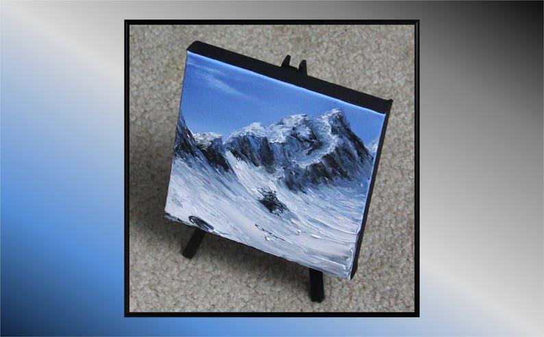 6x6 Mini Painting Original Oil Painting  Glacier image 0