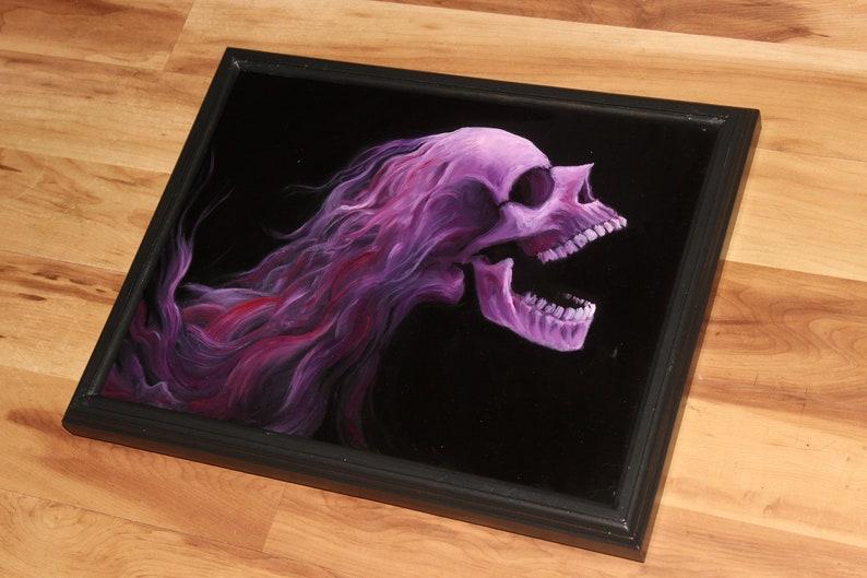 12x16 Original Oil Painting  Hard Rock Metal Rocker Framed