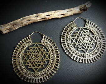 earrings *sacred geometry big*