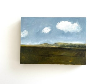 Small landscape painting, original oil painting, small art, small oil painting, unframed art, California landscape, California art, 5x7 art