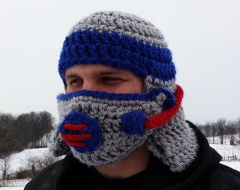 CROCHET PATTERN: Gas mask helmet - halloween hat with mask PDF