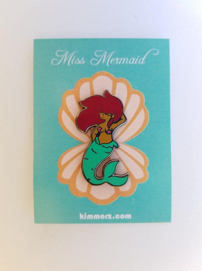 Miss Mermaid Enamel Pin image 0
