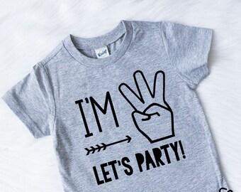 2b32754b I'm Three Lets Party Shirt - Birthday Shirt- Third Birthday Shirt- 3rd  Birthday- Third Birthday - Boys Birthday Shirt - Boys 3rd Birthday