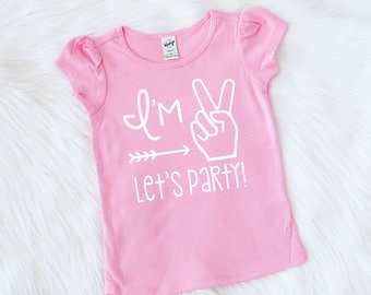 2577d4589 Girls Second Birthday Outfit - Im Two Lets Party - Second Birthday - Second  Birthday Shirt - 2nd Birthday Shirt - Girls 2nd Birthday Shirt