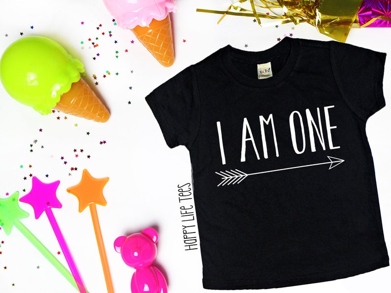 First Birthday Shirt I Am One