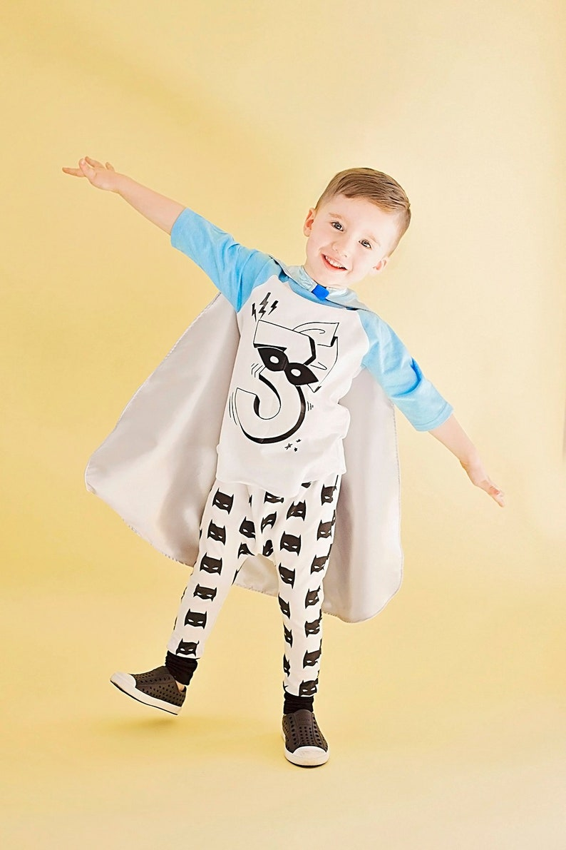 Superhero Birthday Shirt Cape