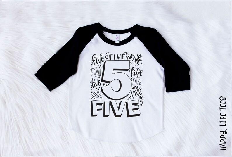 5th Birthday Shirt Fifth