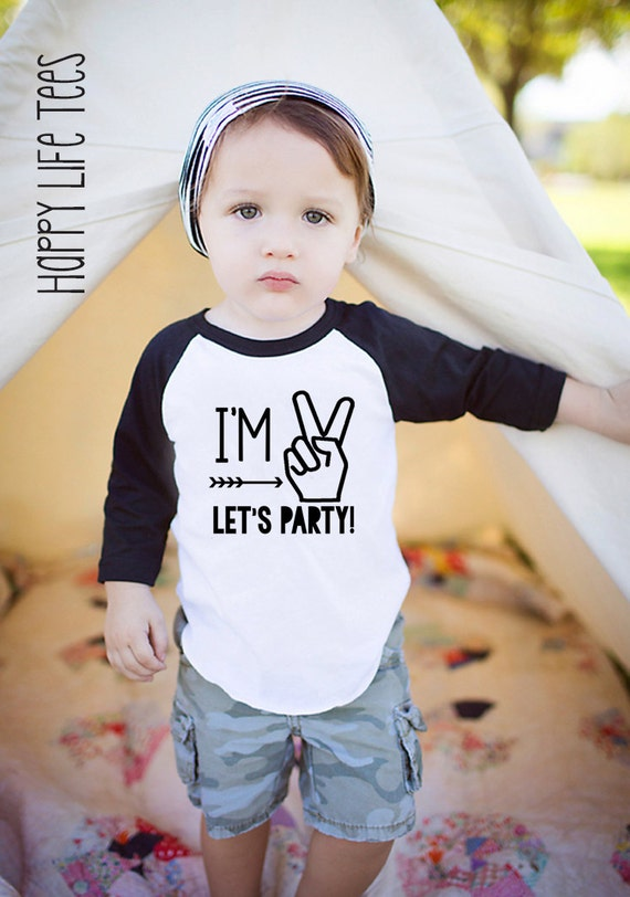 Im Two Lets Party Two Year Old Birthday Shirt Boy 2nd