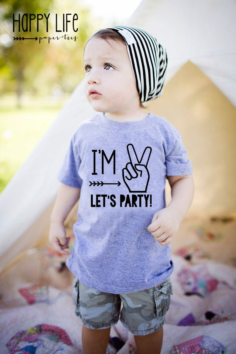 Im Two Lets Party  Boys Second Birthday Shirt  2nd Birthday image 0
