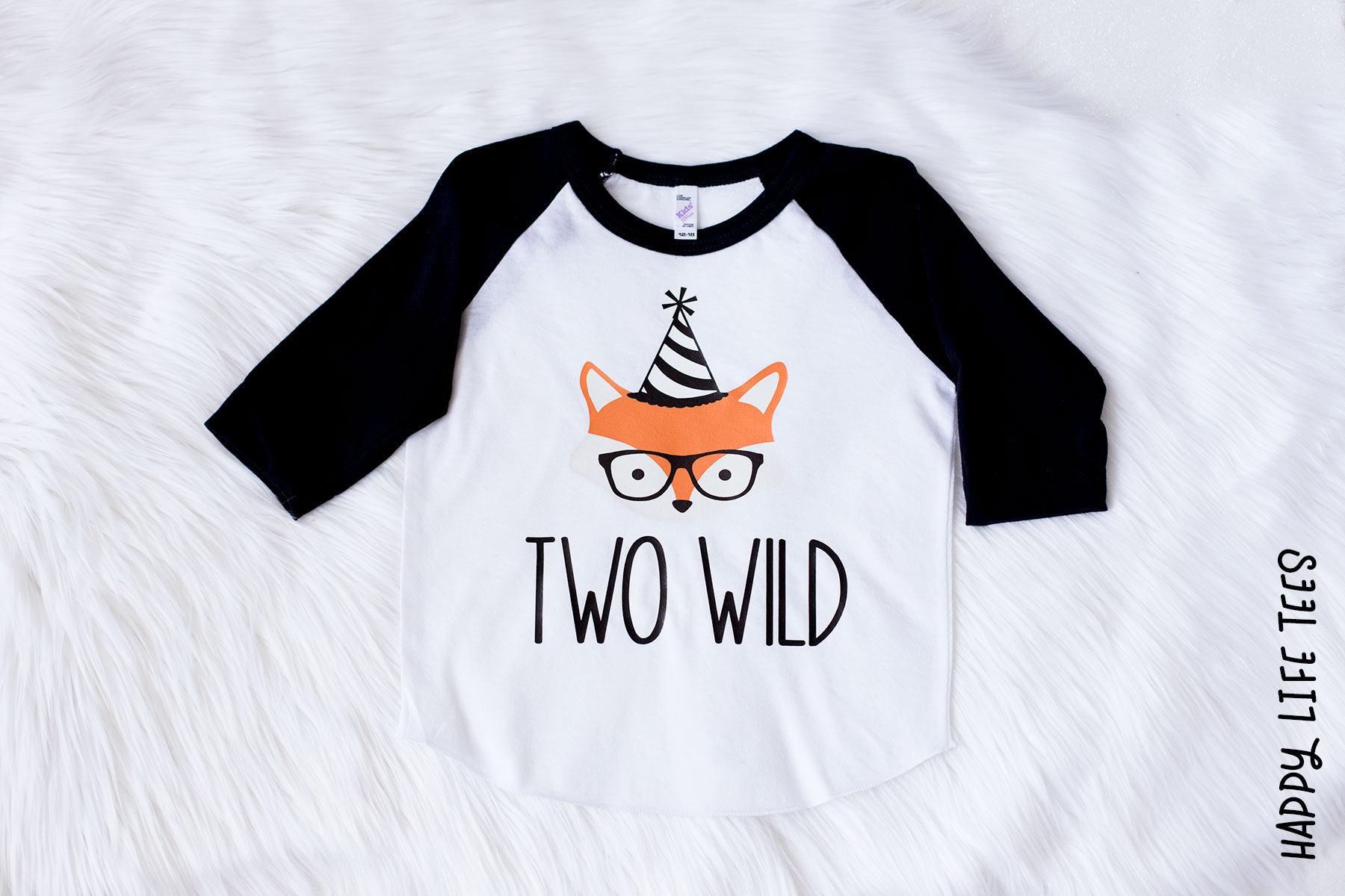 Fox Birthday Shirt Two Wild