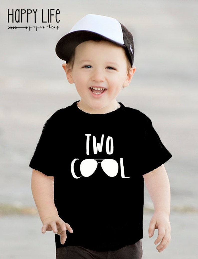 Second Birthday Shirt TWO COOL Two Year Old