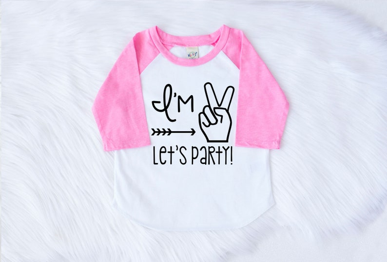 a2407e6c Im TWO Let's PARTY T-Shirt Girls Birthday Shirt 2nd | Etsy