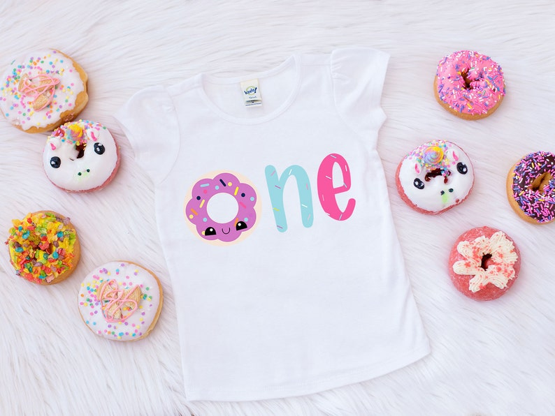 Donut Birthday Shirt Girls First