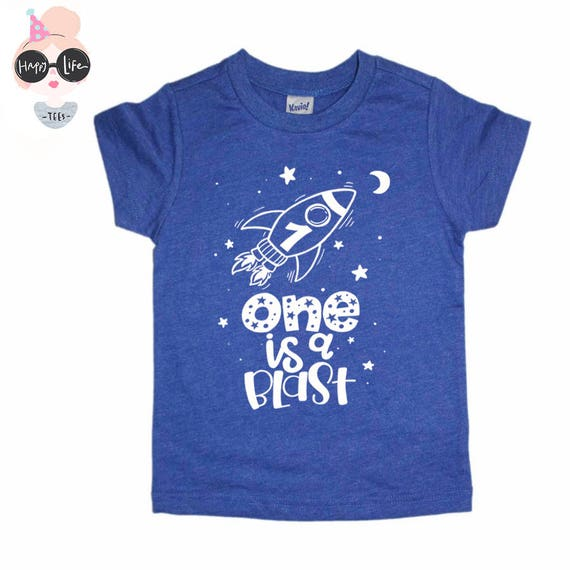 Space Birthday Shirt First