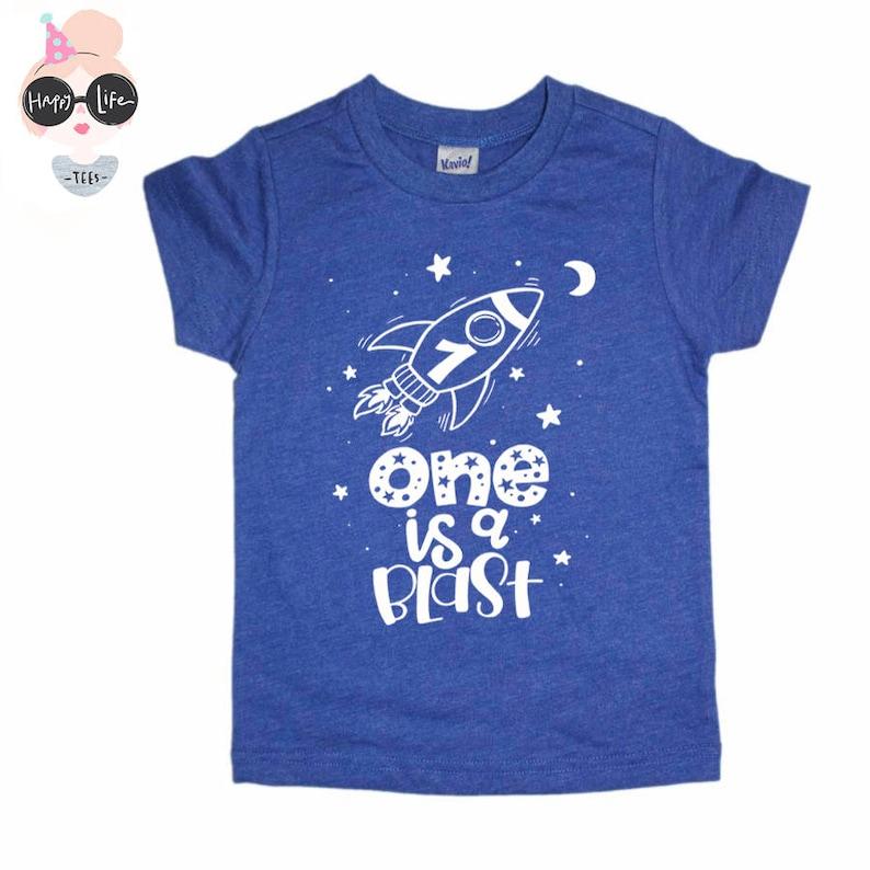 Space Birthday Shirt First