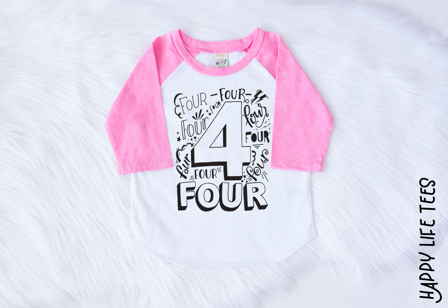 Fourth Birthday Shirt Girl Four Year Old 4