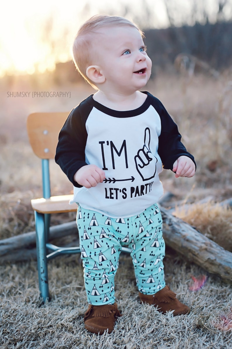 d551510d36d Im One Lets Party First Birthday Shirt First Birthday Boy