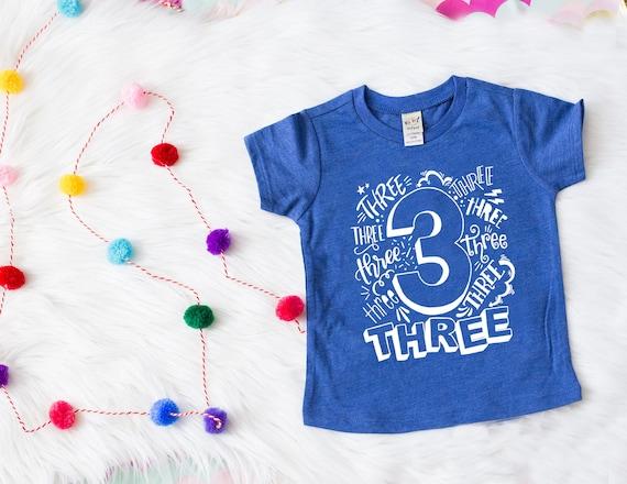 Boys Third Birthday Shirt 3rd Outfit Boy