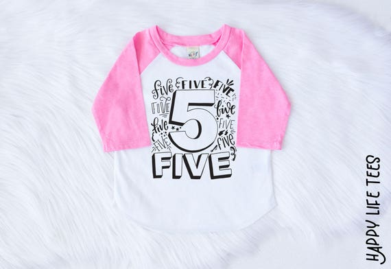 Girls 5th Birthday Shirt Outfit Fifth