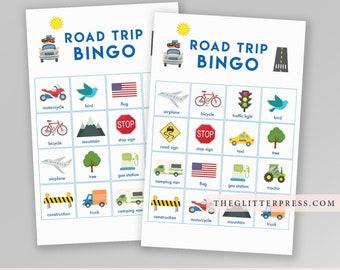 Road Trip Bingo Game Travel Bingo Canadian Canada US Simple Printable Instant Download