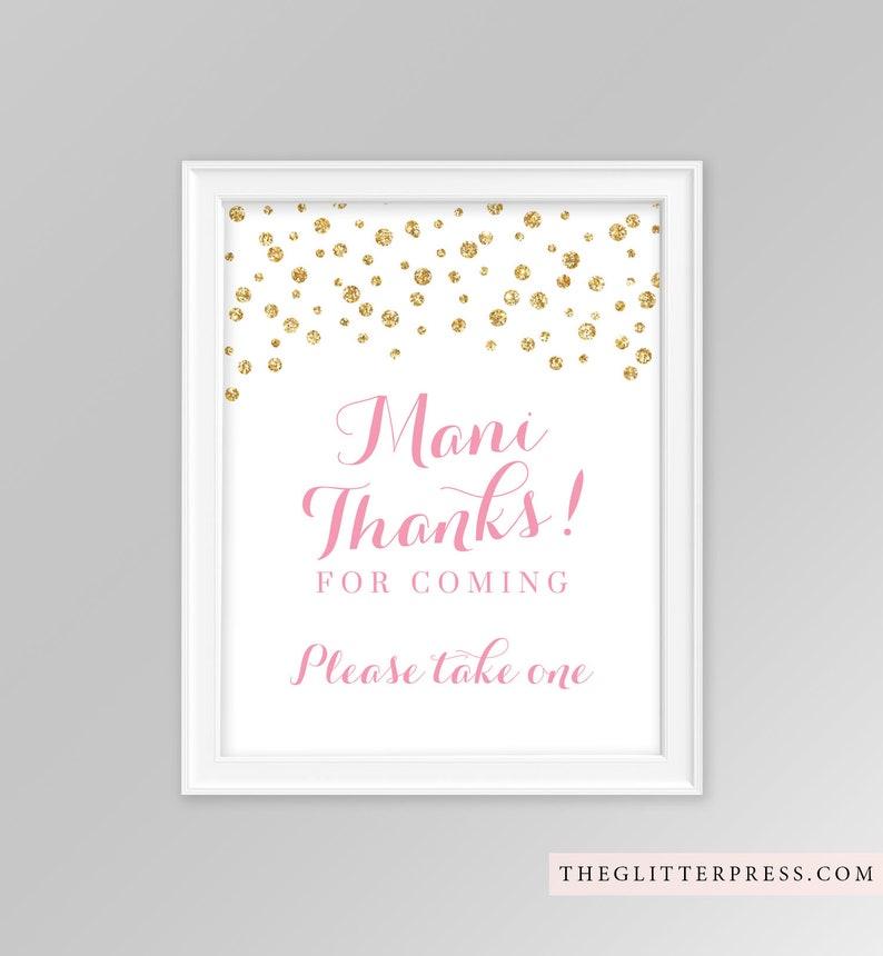 Printable Mani Thanks Pick your Polish sign 8x10 glitter image 0