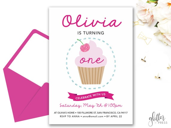 Cupcake birthday invitation printable custom downloadable etsy image 0 filmwisefo