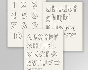 Back to School printable, ABC Neutral Alphabet print, Homeschool, Classroom decor, Educational print, Instant digital Download