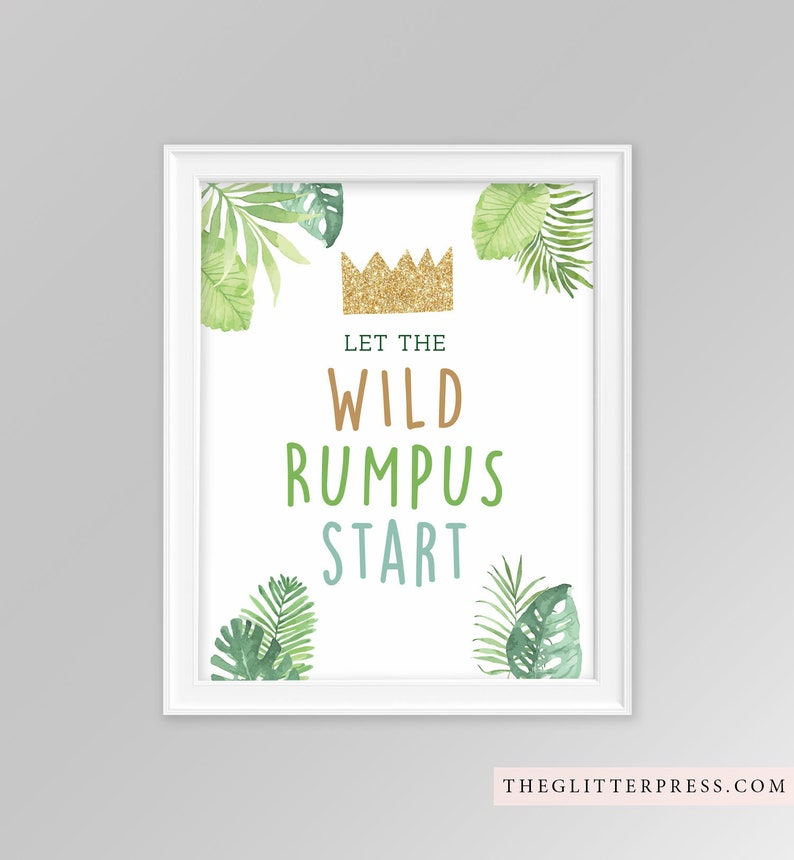 Let the Wild Rumpus Start 8x10 Where the Wild Things Are image 0