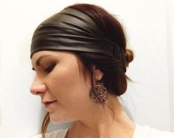 Black Pleather Headwrap 157dcccc3da