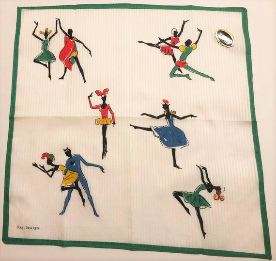 Vintage Unused Hankie with Ballet Dancers