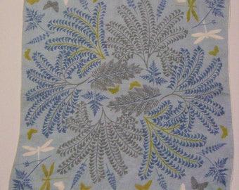 Vintage Designer Tammis Keefe Butterfly & Dragonfly Hankie