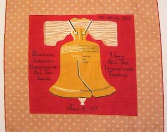 Vintage Designer Tammis Keefe Liberty Bell Hankie