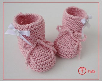968091481820 9.5 cm Baby Booties baby shoes baptism shoes Pink