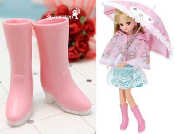 1//6 Plastic Rain Boots Shoes for Blythe Azone Licca Dolls Clothes Accessory