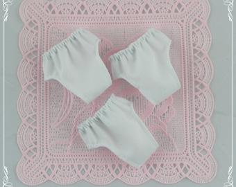 3 White panties Blythe,  Blythe pants clothes.