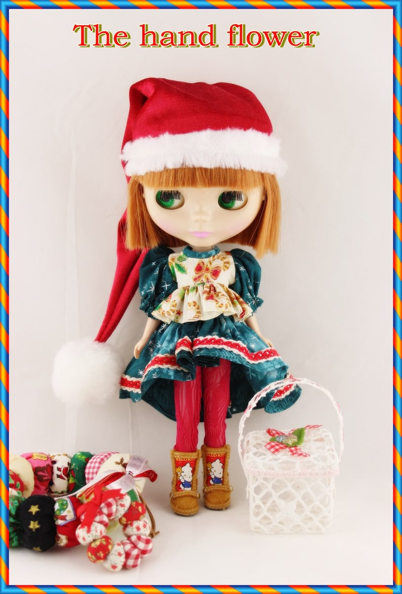 Blythe and Pullip Doll Outfit X/'mas Dress set