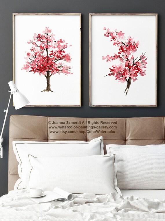 Día de la madre conjunto flor de cerezo de 2 arte japonés   Etsy