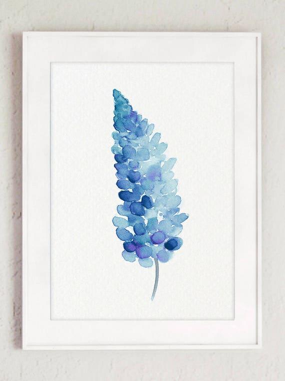 Bluebonnets set 2 flores Bluebonnet Giclee Fine Art Print | Etsy