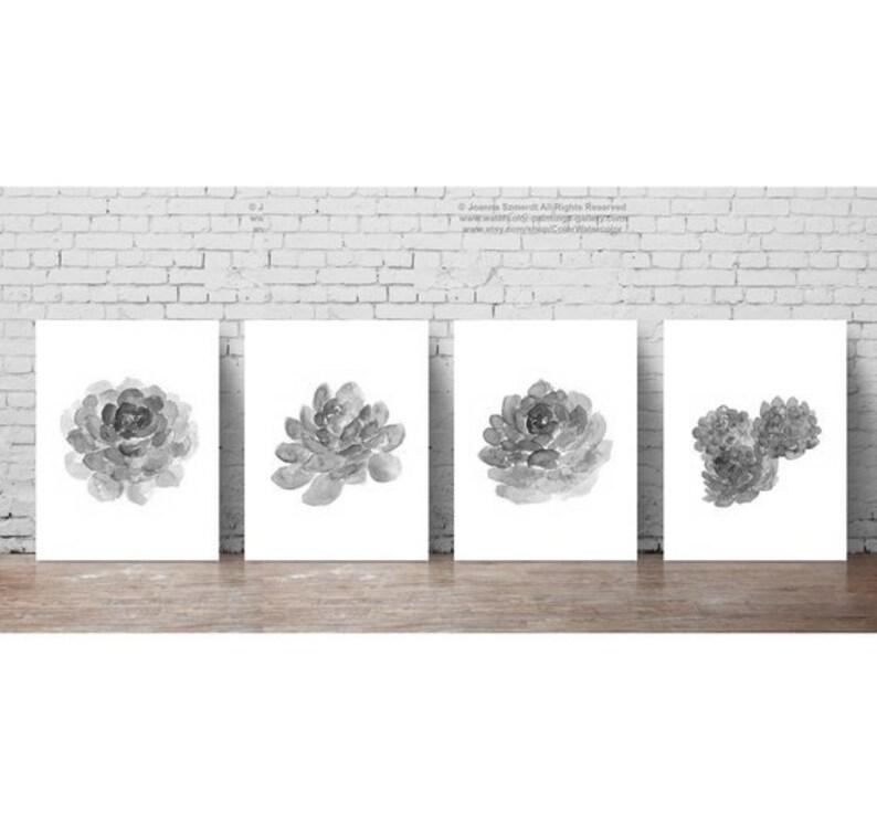 077a28962da Succulent Canvas Black White Drawing Botanical Art Print