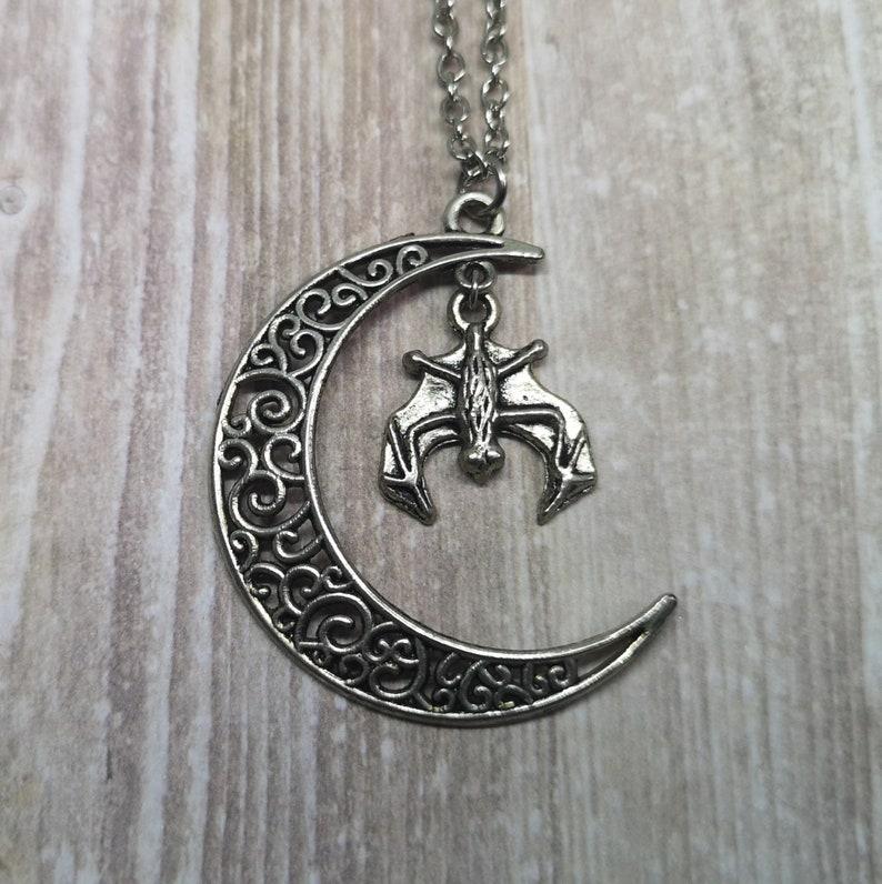 Moon Bat Necklace image 0