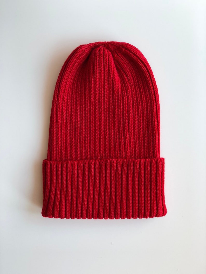 Knitted Beanie Wool Hat Wool Beanie Cashmere Hat Cashmere image 0