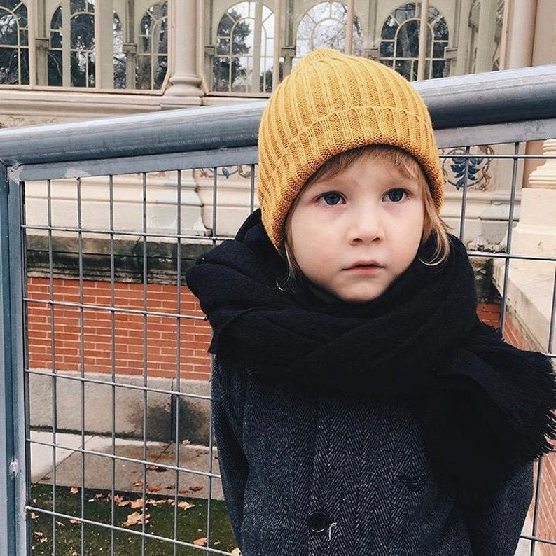 Toddler Winter Hat Knitted Beanie Luxury Beanie Cashmere image 0