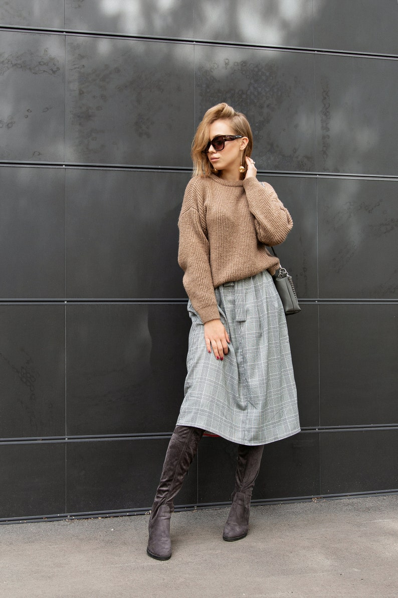 Cashmere Sweater Oversized Sweater Cozy Loose Knit Sweater image 0